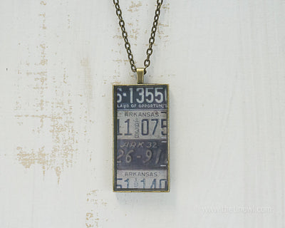 Arkansas License Plates Necklace