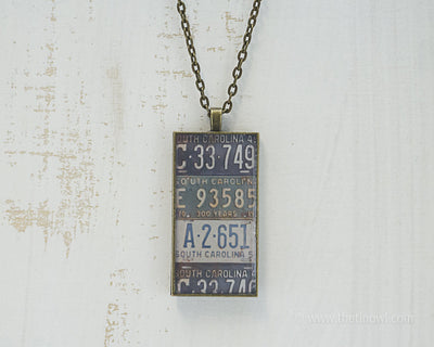South Carolina License Plates Necklace