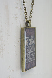 Maine License Plates Necklace