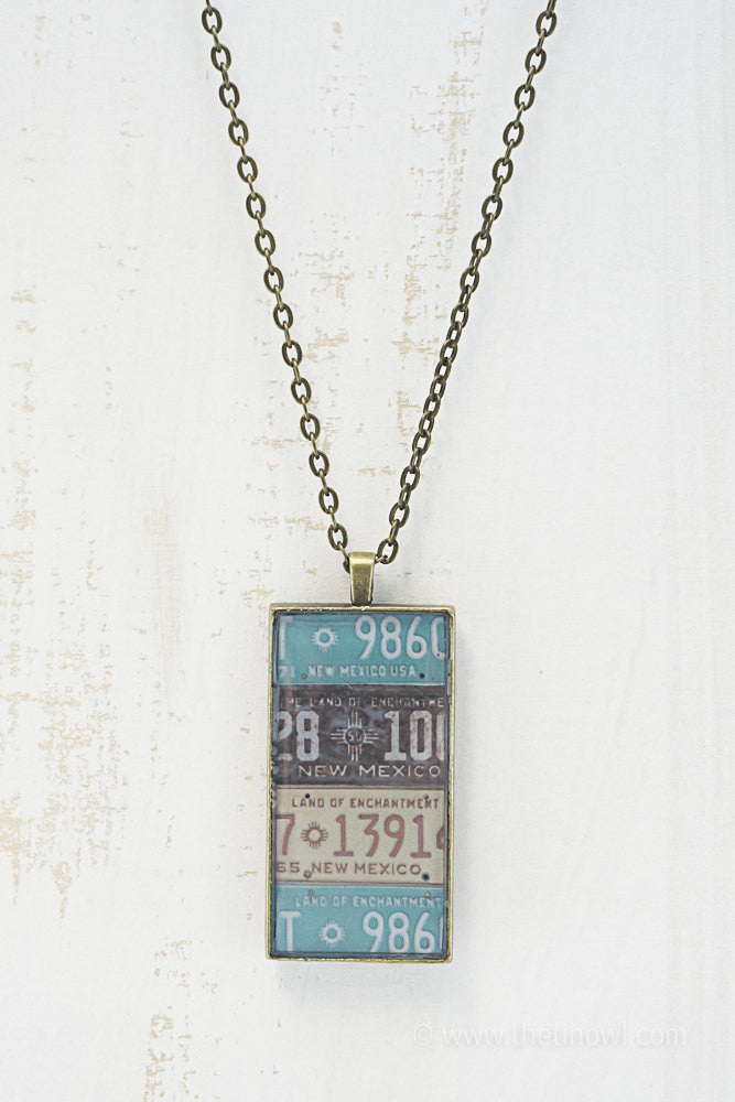 New Mexico License Plates Necklace