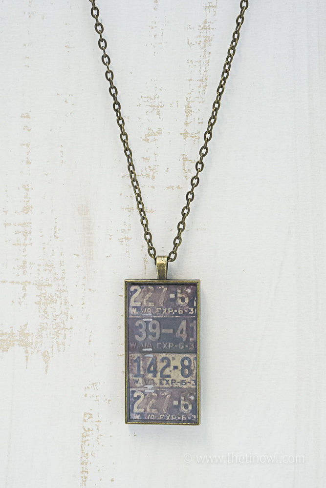 West Virginia License Plates Necklace