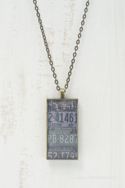 Tennessee License Plates Necklace