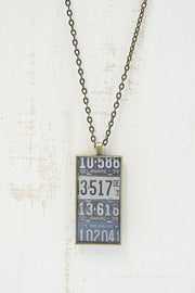 Delaware License Plates Necklace
