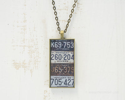Kentucky License Plates Necklace