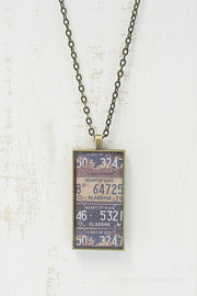 Alabama License Plates Necklace