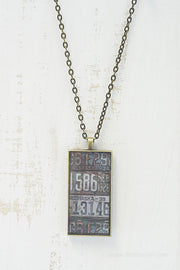 Nebraska License Plates Necklace