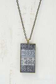 Rhode Island License Plates Necklace