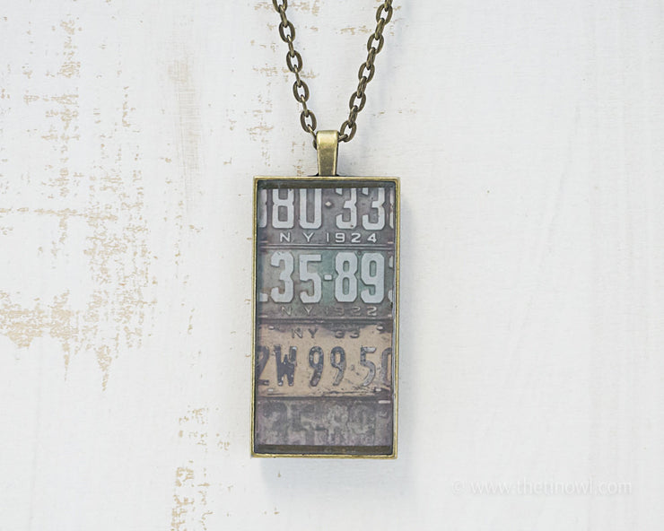 New York License Plates Necklace