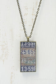 Nevada License Plates Necklace