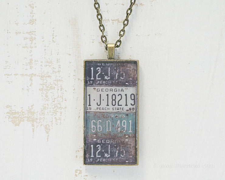 Georgia License Plates Necklace