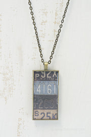 New Jersey License Plates Necklace