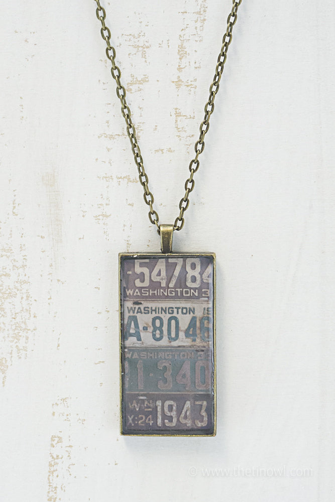 Washington License Plates Necklace