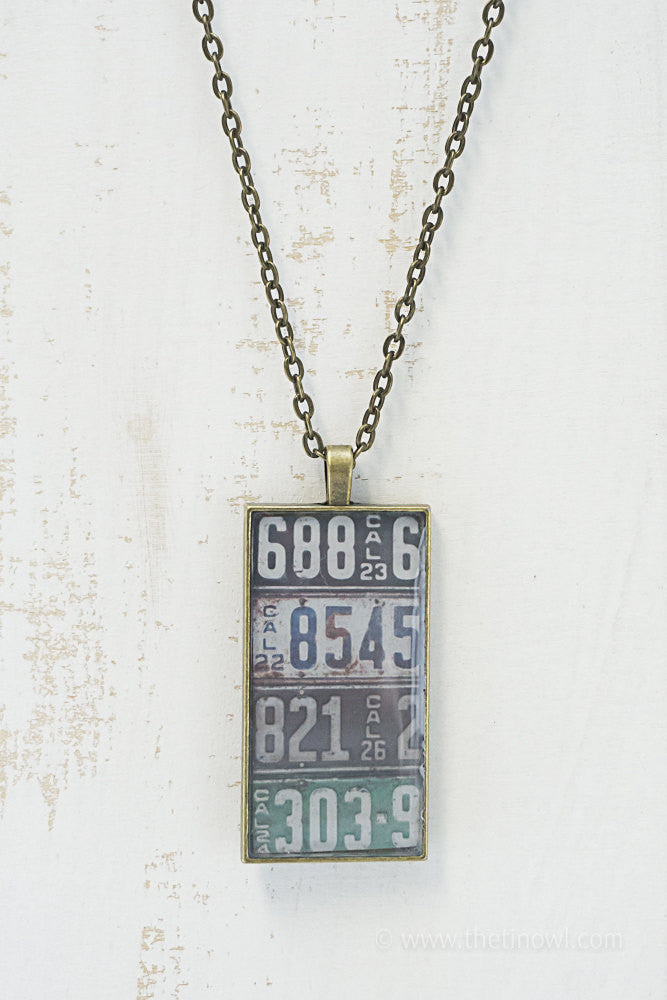 California License Plates Necklace