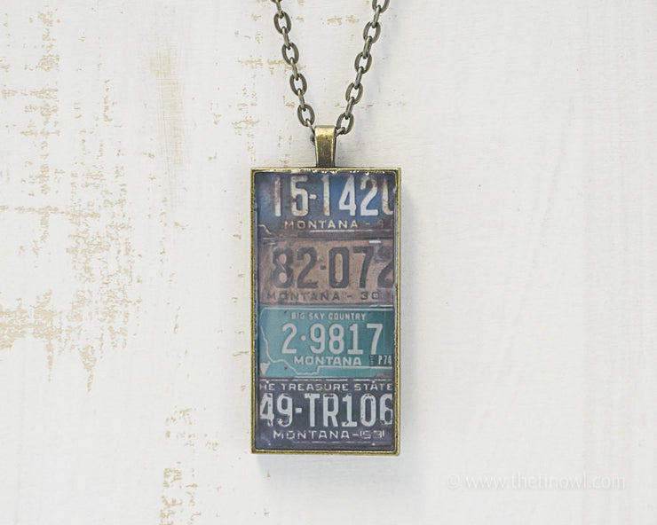 Montana License Plates Necklace