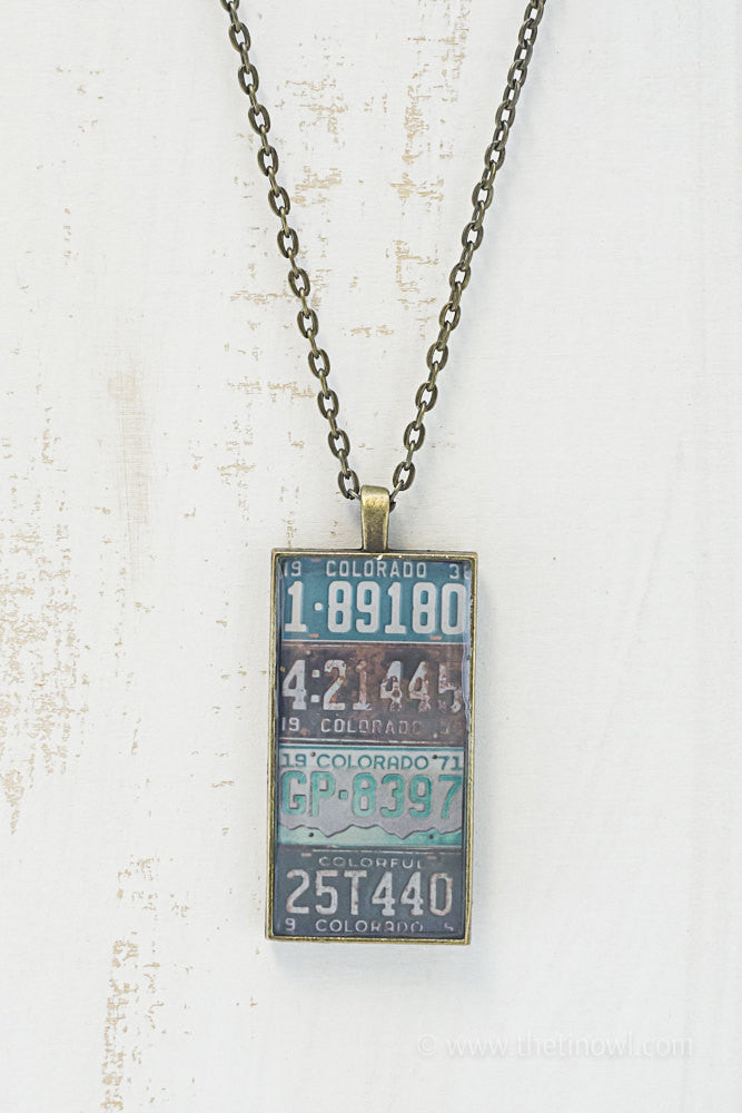 Colorado License Plates Necklace