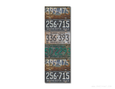 Bookmark - Vintage Minnesota License Plates
