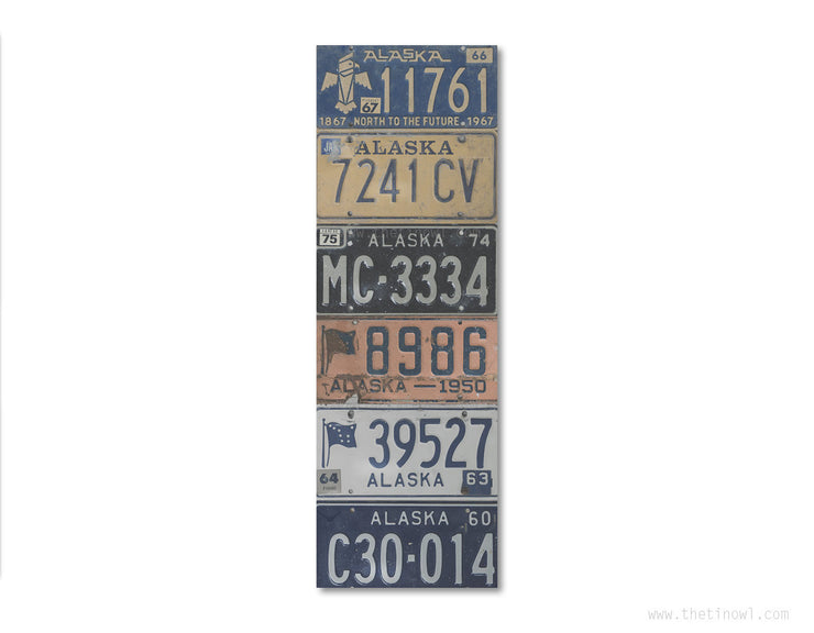Bookmark - Vintage Alaska License Plates