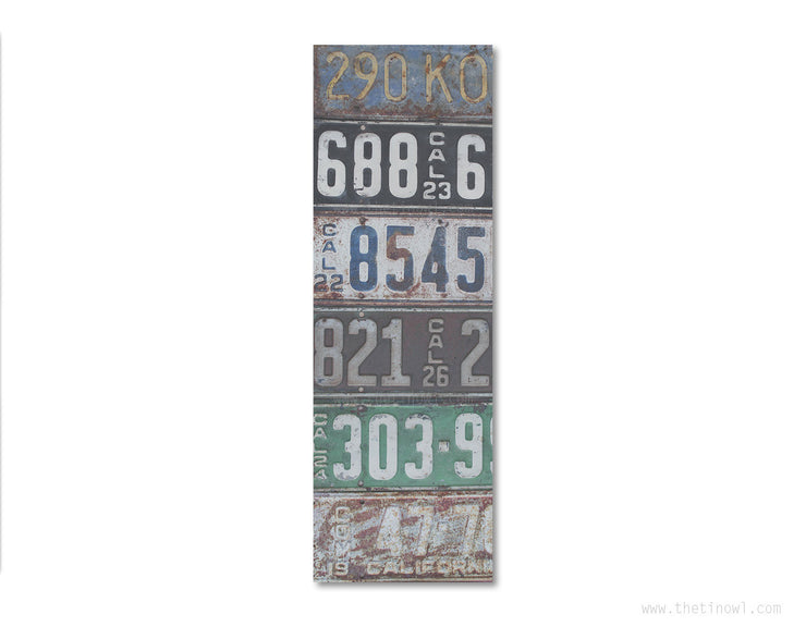 Bookmark - Vintage California License Plates