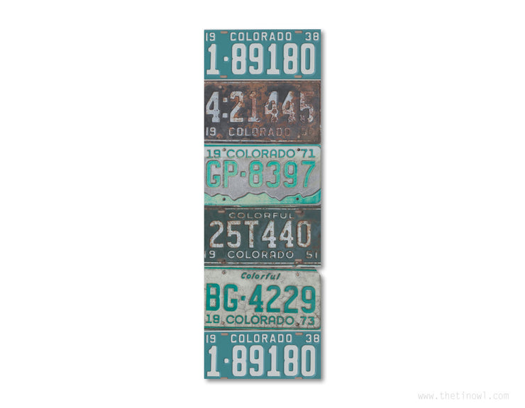 Bookmark - Vintage Colorado License Plates