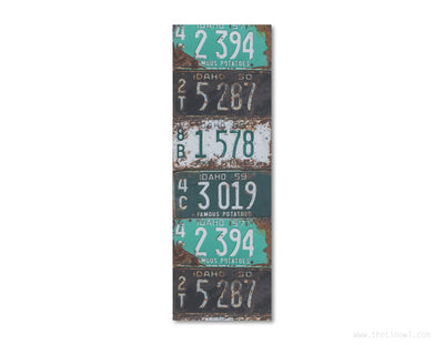 Bookmark - Vintage Idaho License Plates