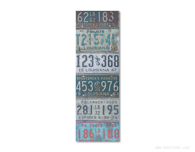 Bookmark - Vintage Louisiana License Plates