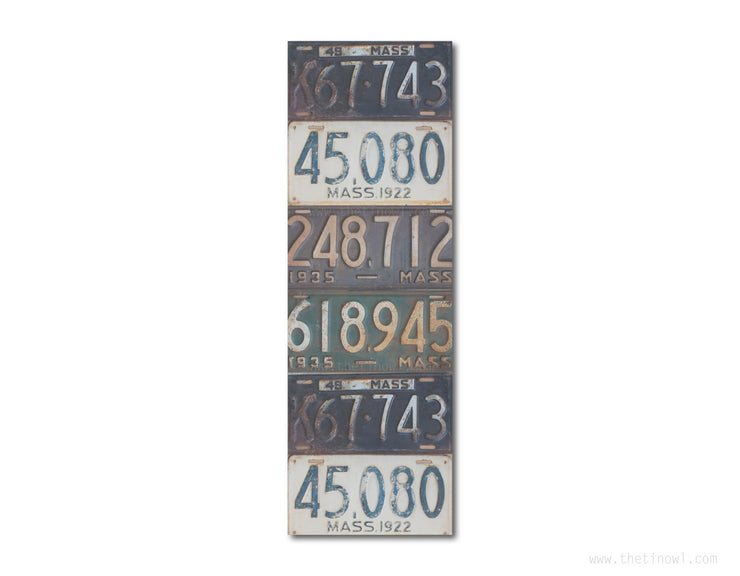 Bookmark - Vintage Massachusetts License Plates