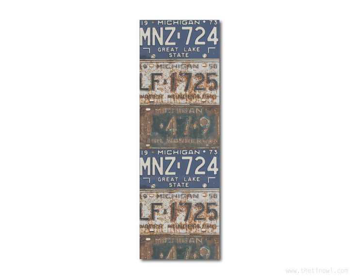 Bookmark - Vintage Michigan License Plates