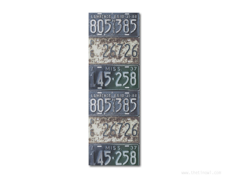 Bookmark - Vintage Mississippi License Plates