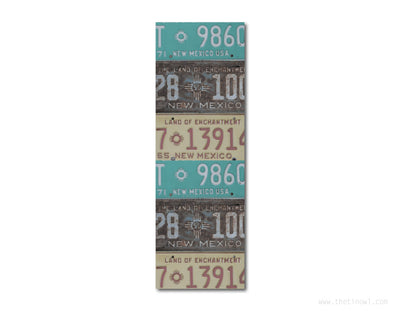 Bookmark - Vintage New Mexico License Plates