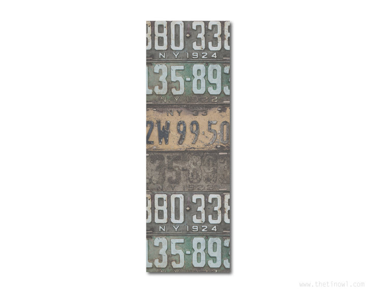 Bookmark - Vintage New York License Plates