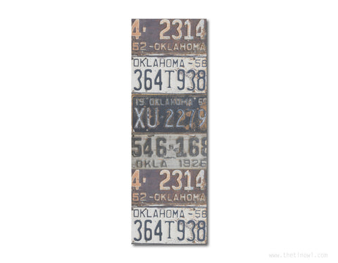 Bookmark - Vintage Oklahoma License Plates