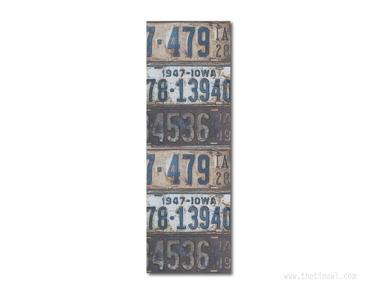 Bookmark - Vintage Iowa License Plates