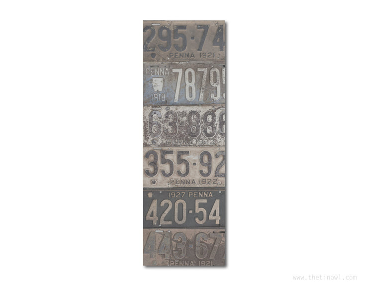 Bookmark - Vintage Pennsylvania License Plates