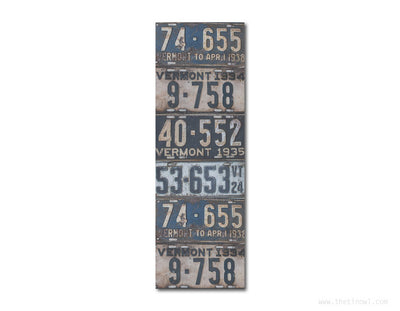 Bookmark - Vintage Vermont License Plates