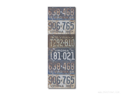 Bookmark - Vintage Virginia License Plates