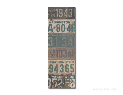 Bookmark - Vintage Washington License Plates