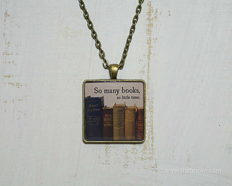 Necklace - Vintage Books