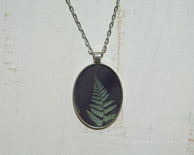 Necklace - Green Fern
