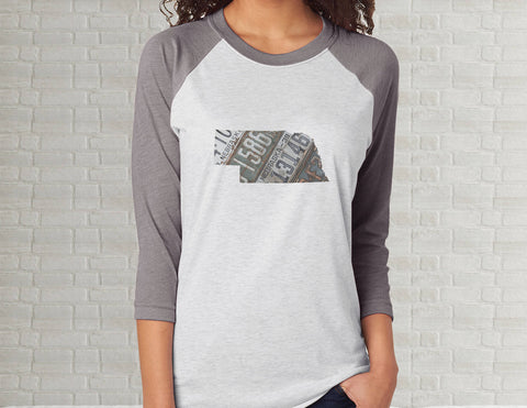 Nebraska Raglan T-Shirt - Adult