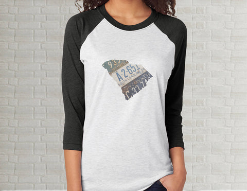 South Carolina Raglan T-Shirt | Adult Unisex Tee Shirt