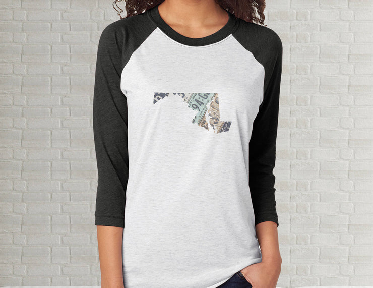 Maryland Raglan T-Shirt | Adult Unisex Tee Shirt