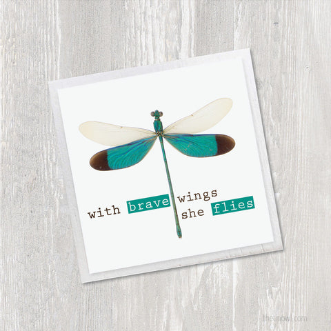 Inspirational Magnet | With Brave Wings She Flies