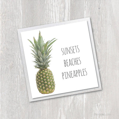 Magnet | Sunsets Beaches Pineapples