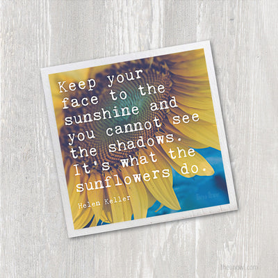 Magnet | Sunflowers Helen Keller Quote