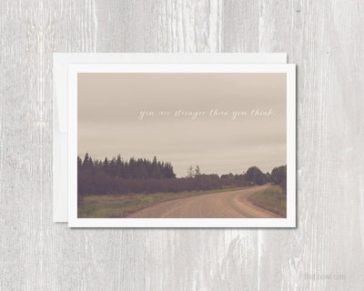 Greeting Card - You are stronger than you think
