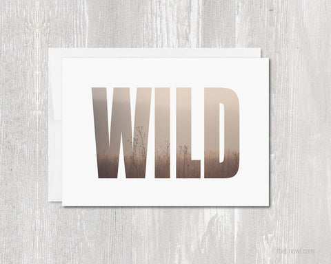Greeting Card - Wild