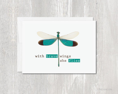 Greeting Card - With Brave Wings She Flies