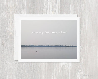 Greeting Card - Love Is Patient