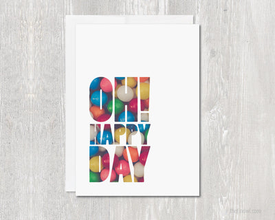 Greeting Card - Oh Happy Day