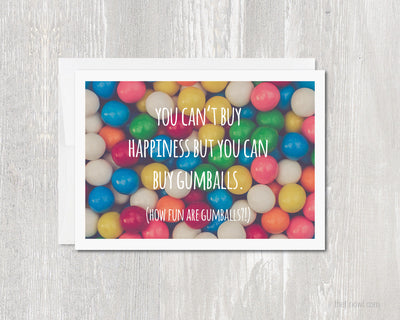 Greeting Card - Gumballs